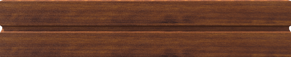 m BL280 ALU Standardblende 280mm Pulverbeschichtet Golden-Oak